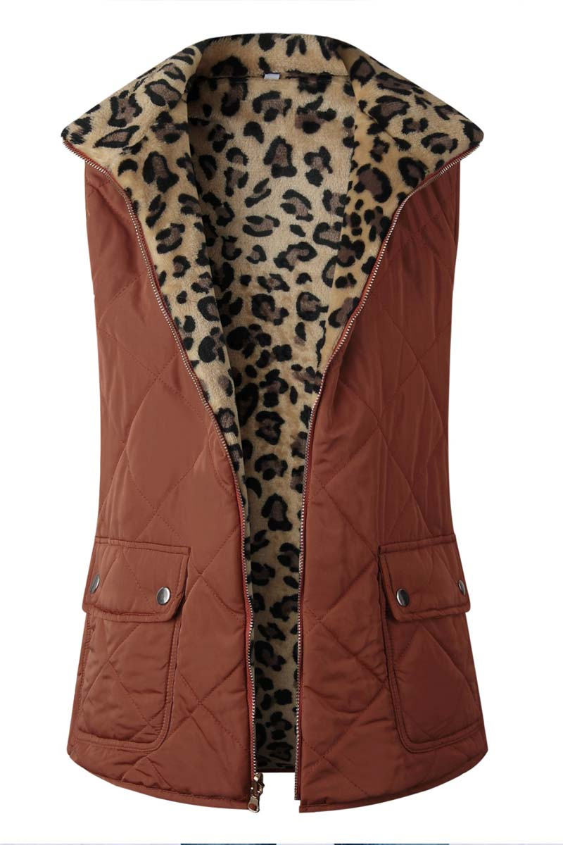 Lopolly Zippered Two-faced Pocket Jacket Vest(3 Colors)