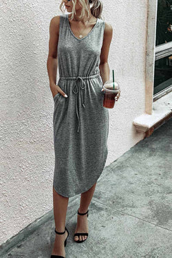 Lopolly Casual V-Neck Vest Dress £¨3 Colors£©