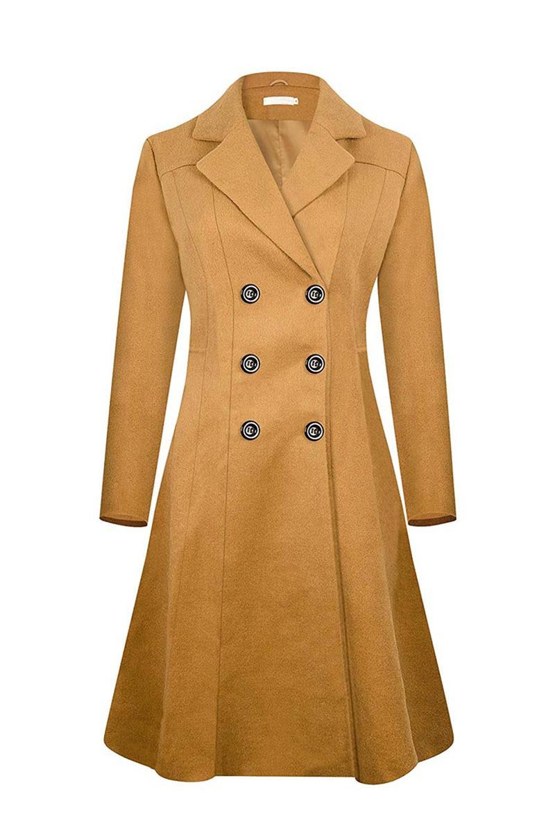 lopolly Winter Lapel Double Breasted Coat(4 Colors)