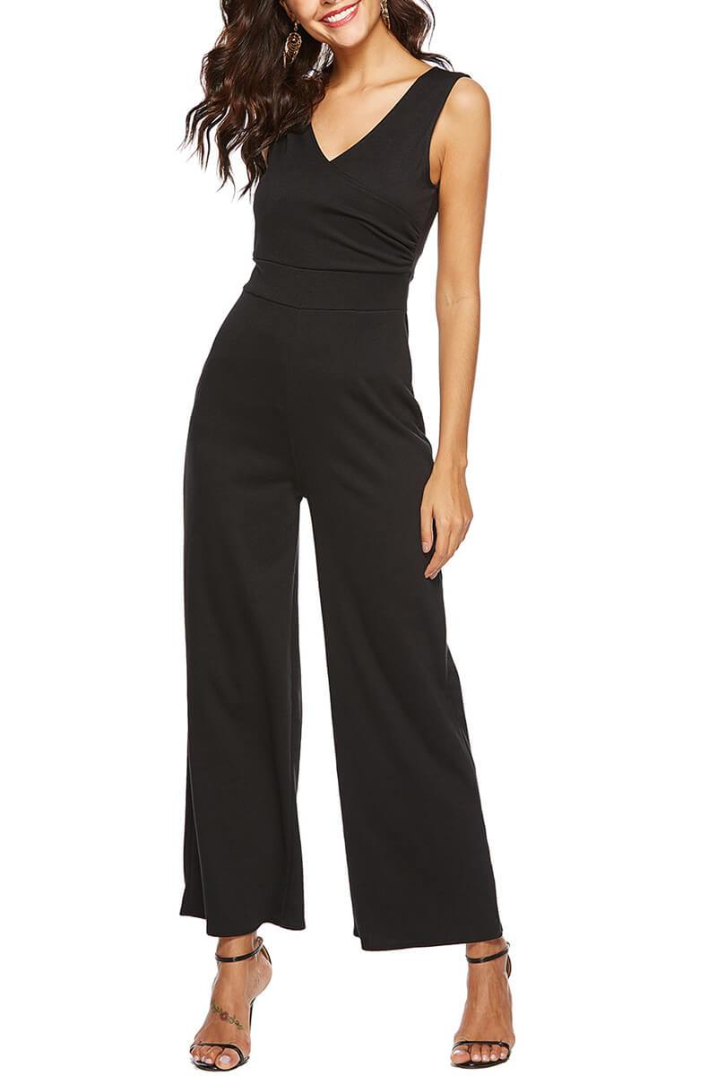 Lopolly V Neck sleeveless jumpsuit
