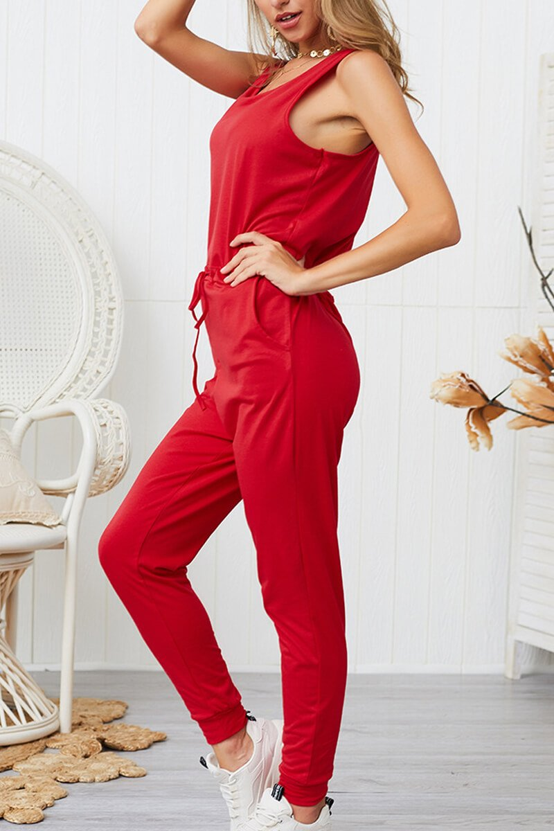 Lopolly Women's Casual High Waist Jumpsuit(4 Colors)