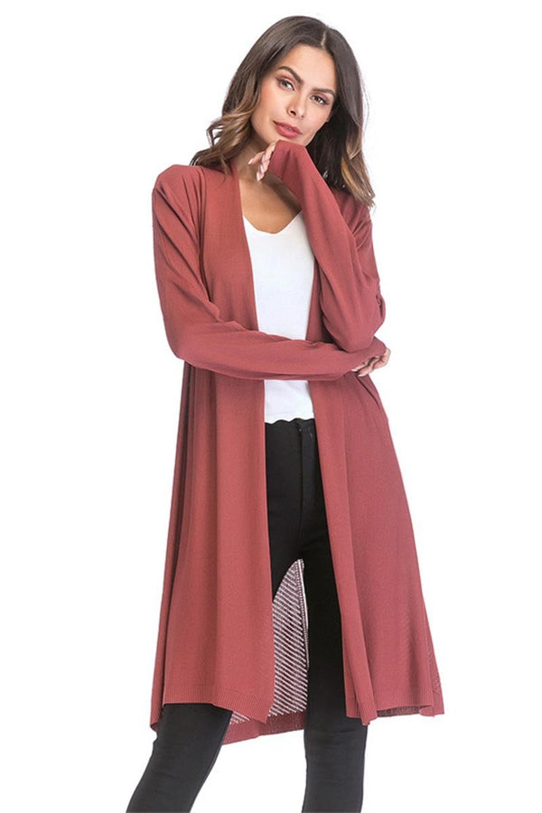 Lopolly Casual Kintted Long Shirt Coat