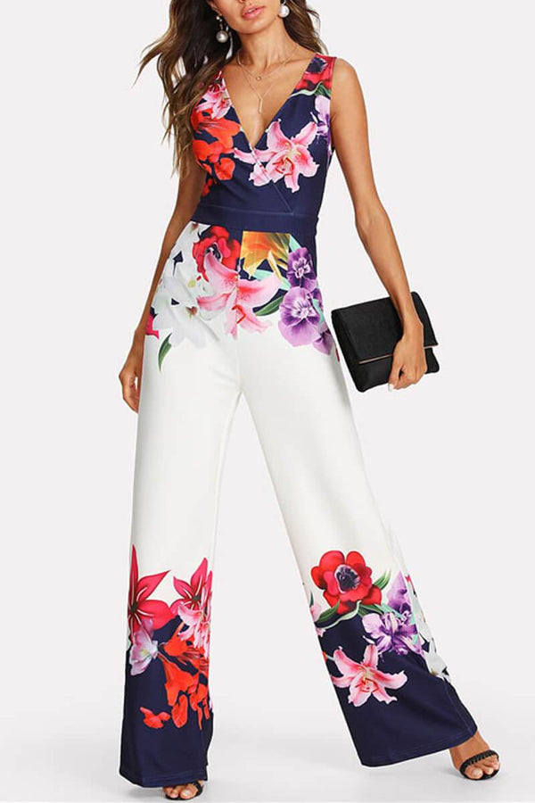Lopolly New Print Sleeveless Jumpsuit