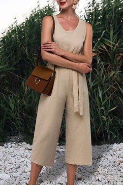 Lopolly Casual Khaki Jumpsuit