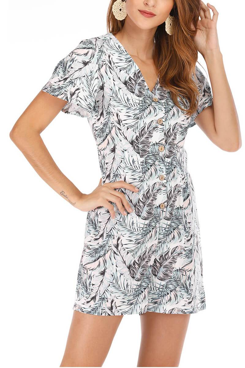 Lopolly Women's Short Printed Jumpsuit