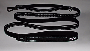 Dog lead shown with reflectivity in low light