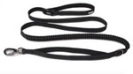 Black dog lead shown on white background
