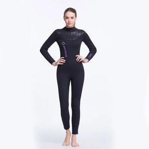 Full body wet suit shown on female model