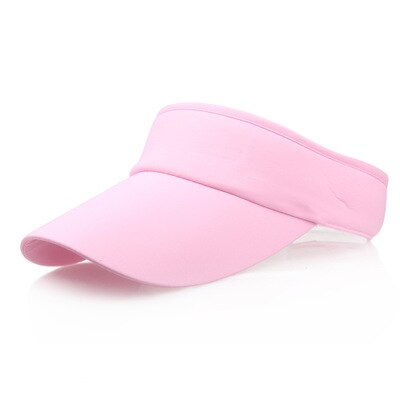 Pale pink sun visor on white background