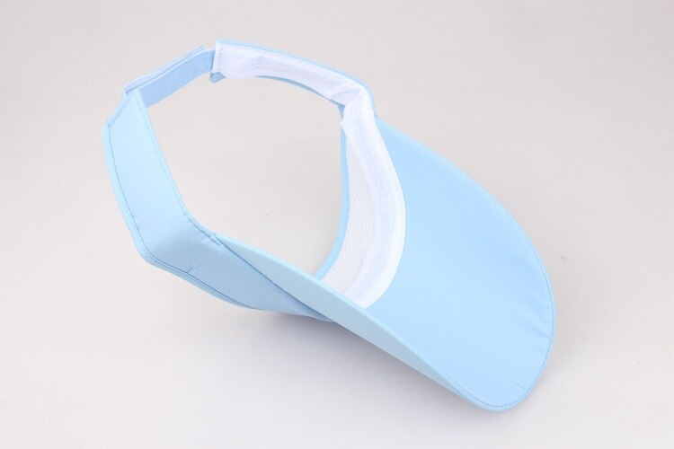 Pale blue sun visor shown from underneath