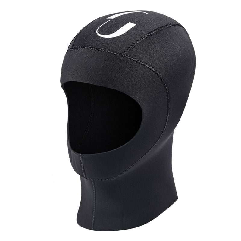 Wetsuit hood, shown right side facing