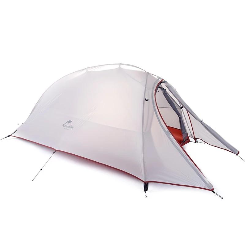 2 man grey 3 season tent shown pitched, on white background