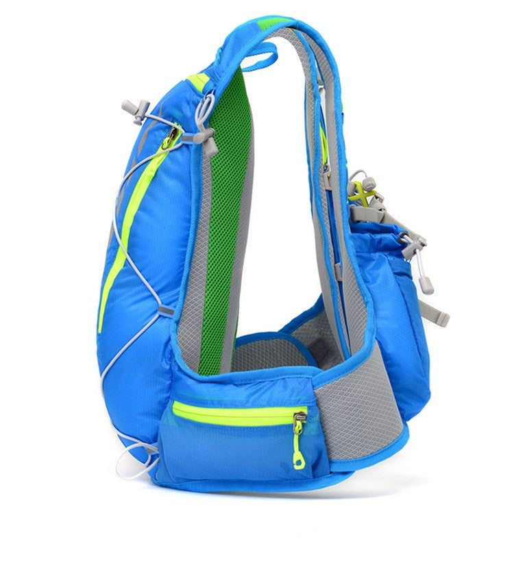 Blue 15 litre sports pack, side view
