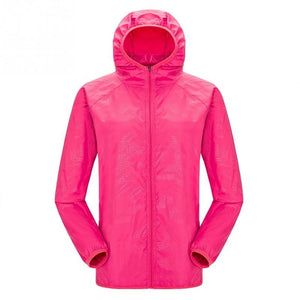 Lightweight waterproof jacket in pink