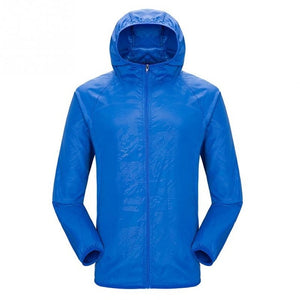 Lightweight waterproof jacket in royal blue