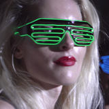 HASHTAG QUEENS NEON HORIZONTAL BARS GLASSES