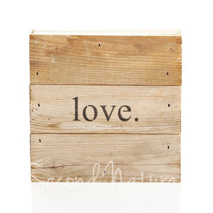 Love - Painted Sign - 6X6