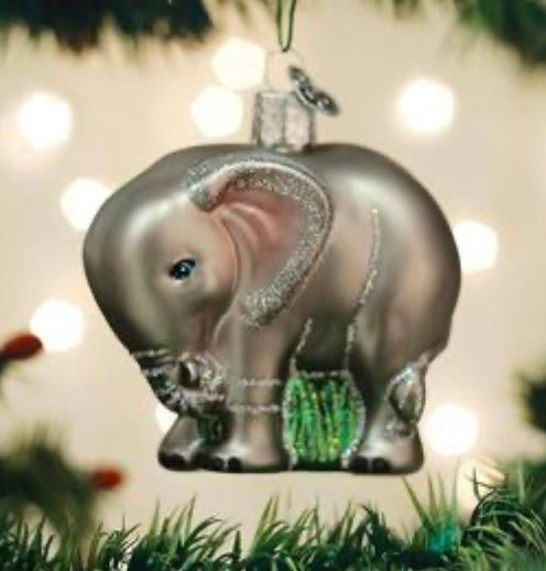 Baby Elephant-Old World Ornament
