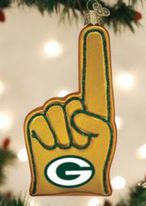 Green Bay Packers-Foam Finger-Old World Ornament