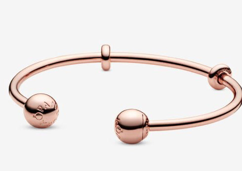 Pandora Moments-Open Bangle-Pandora Rose