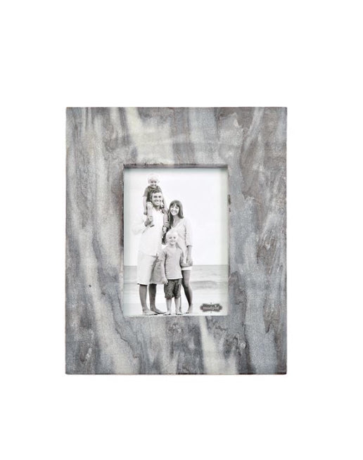Large Gray Marble Raw Edge Frame-46900158