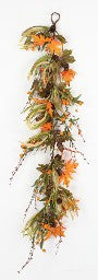 Fall Leaf and Pinecone Hanging Swag-G3003