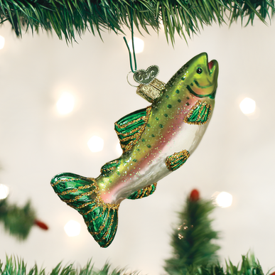 Alpine Rainbow Trout Ornament - Old World Christmas