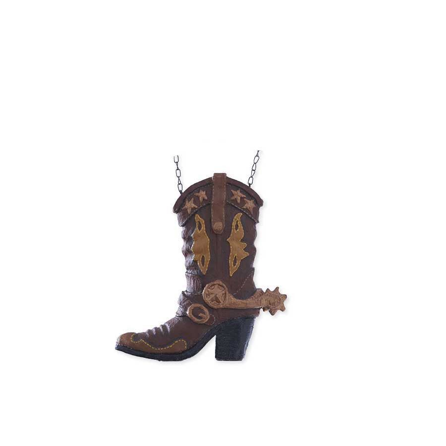 Brown Cowboy Boot - Resin- Hanging Replacement (arrow sold separately)