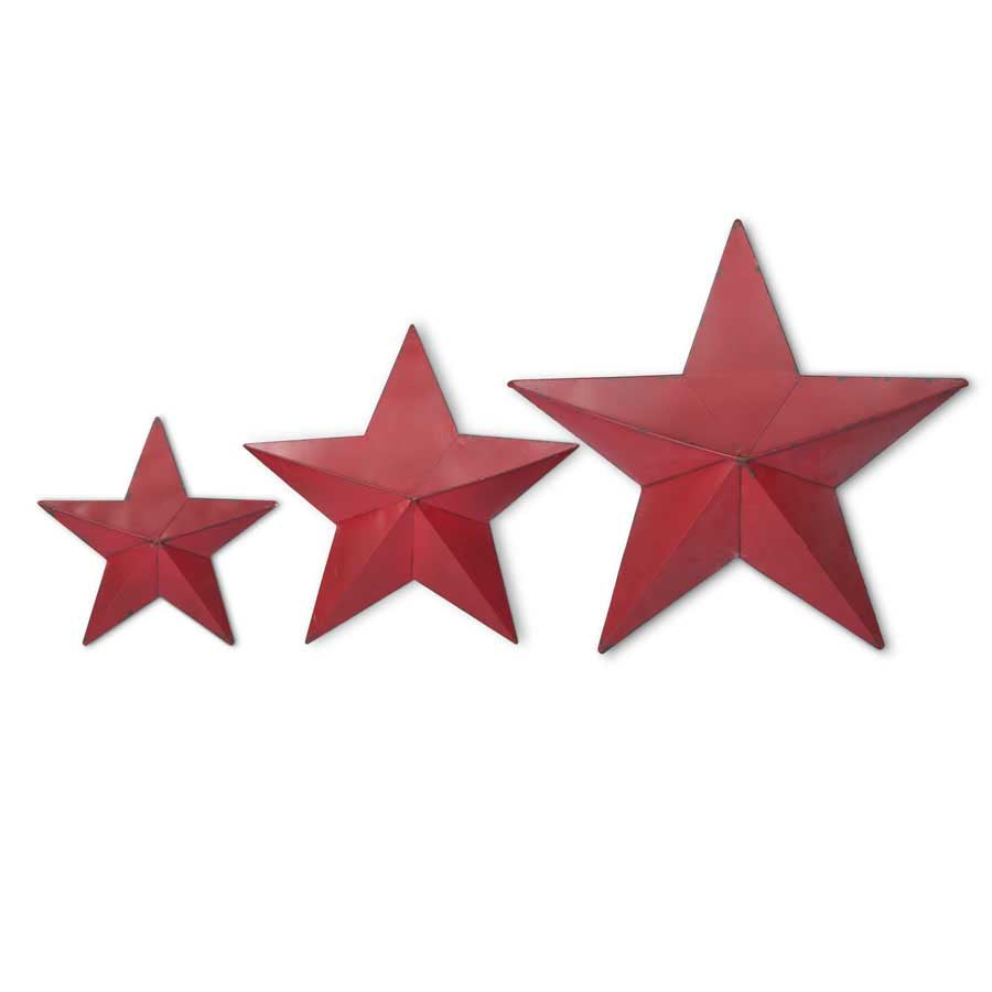 Green metal Painted Stars Choice of Size Christmas Embellishment  not rusty tin