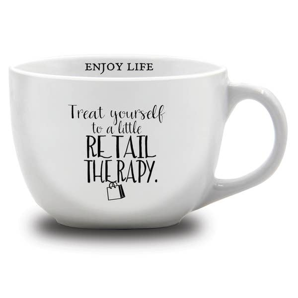 Treat yourself to a little retail therapy mug- 24oz