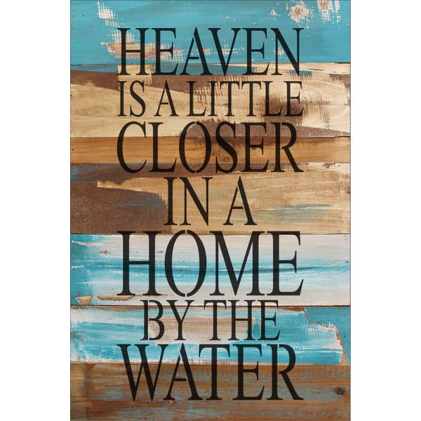 HEAVEN IS A LITTLE CLOSER- Reclaimed Painted Sign - 12x18