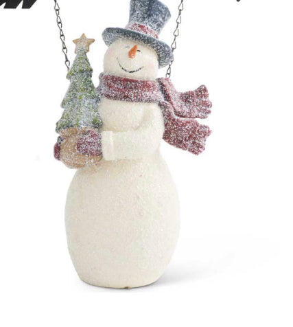 Resin Glittered Vintage Snowman Arrow Replacement