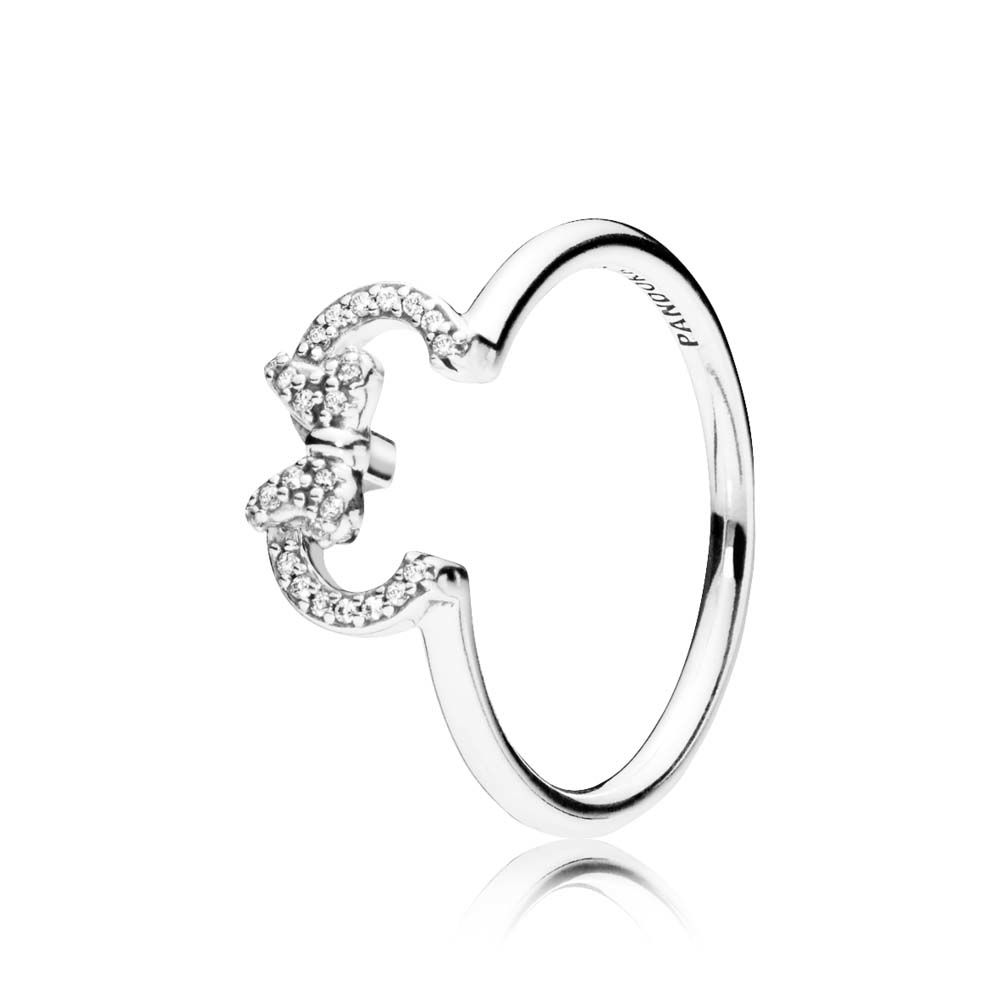Disney - Minnie Silhouette Ring - Clear CZ - PANDORA - 197509CZ