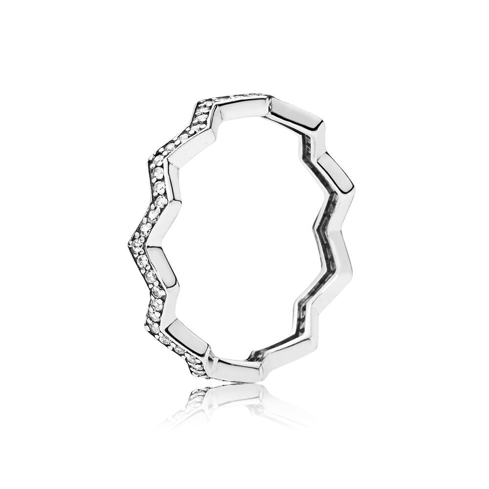 Shimmering Zigzag Ring - Clear CZ - PANDORA - 197751CZ