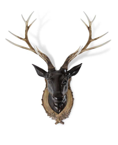 Dark Brown Resin Wall Mount Deer Head