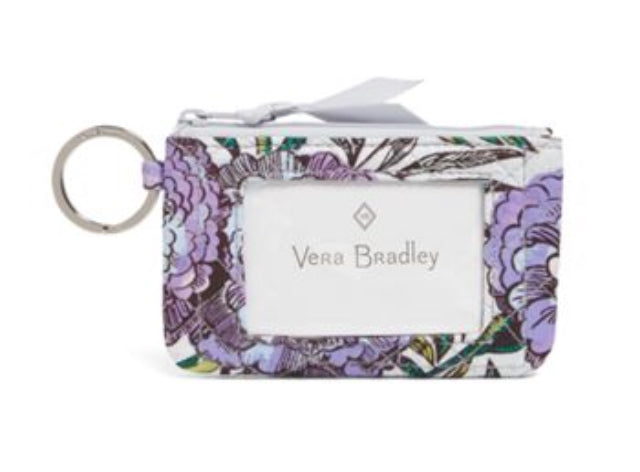 Iconic Zip ID Case-Lavender Meadow-Vera Bradley