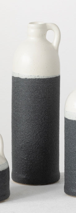 Black and White Handle Vase-(3 Sizes Sold Separately)