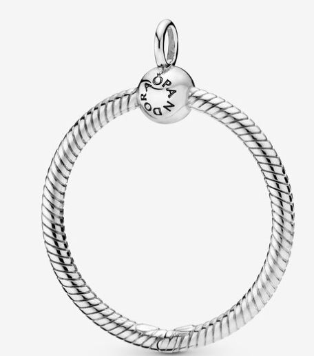 Pandora Moments Medium O Pendant-Sterling Silver-Pandora