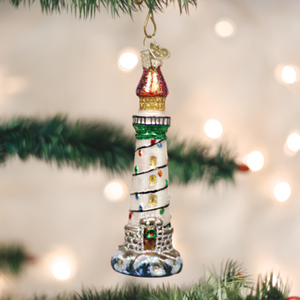 Holiday Lighthouse Ornament - Old World Christmas