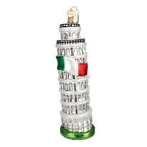 Leaning Tower of Pisa Ornament - Old World Christmas