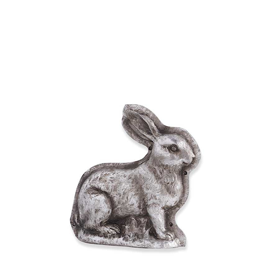 Antique Silver Resin Embossed Bunny Rabbit