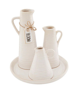 Bud Vase Trio with Tray