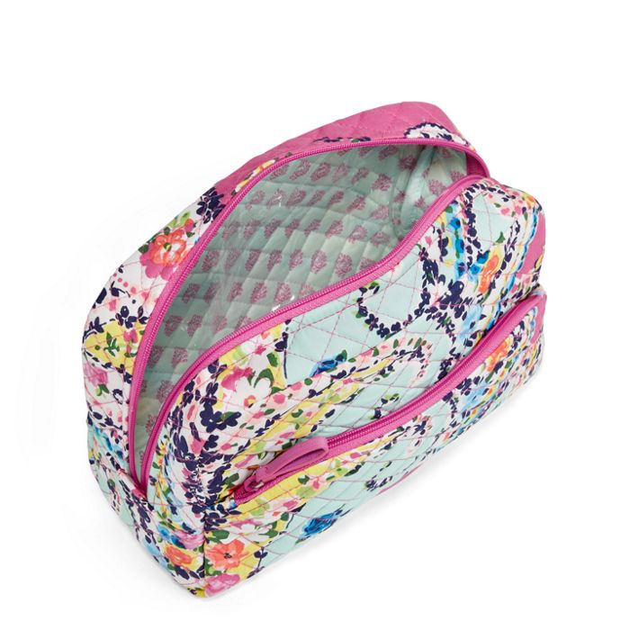 5fd0d41a823c Vera Bradley-Iconic Large Cosmetic-Wildflower Paisley - Red Barn ...
