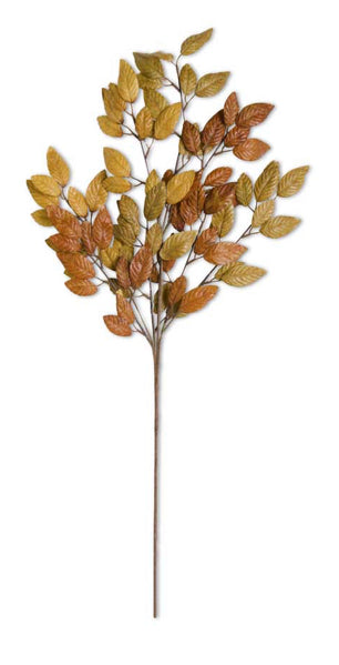 Fall Golden Tones Leaf Stem-35""