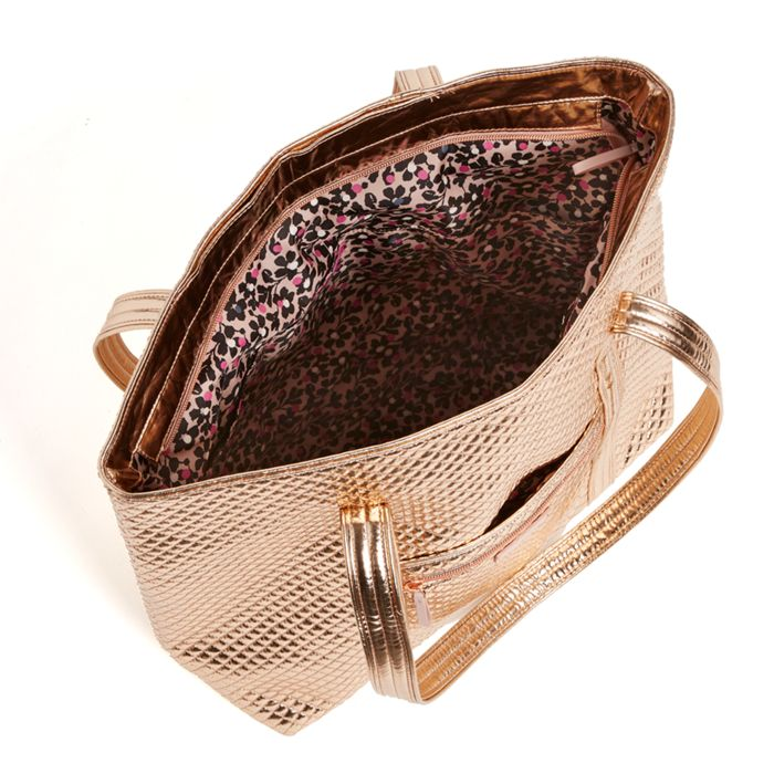 a29bf6a3c Vera Bradley - Iconic Vera Tote - Rose Gold Shimmer - Red Barn ...
