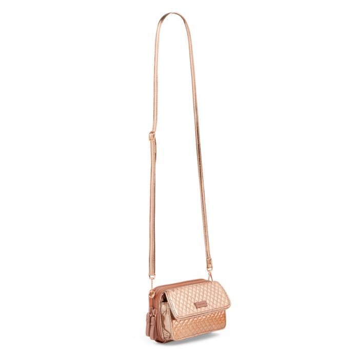 fa6a4525a Vera Bradley - Iconic RFID All in One Crossbody - Rose Gold Shimmer ...