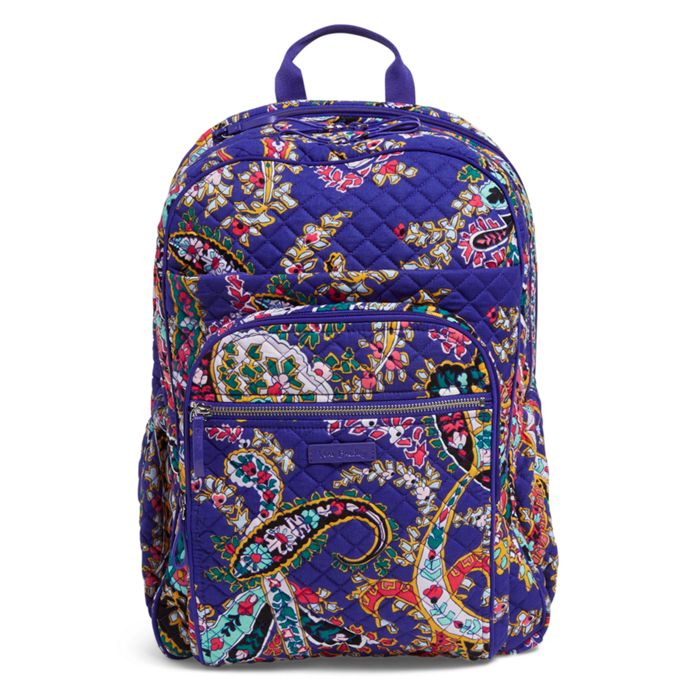 Vera Bradley - Iconic XL Campus Backpack - Romantic Paisley - Red ... 79c1f1e969ddb