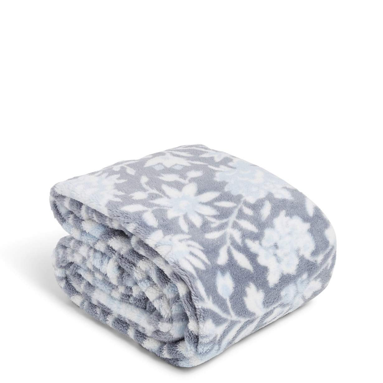 Plush Shimmer Throw Blanket-Frosted Lace-Vera Bradley