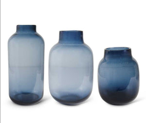 Persian Blue Glass Vases with Dots-3 Sizes sold Separately