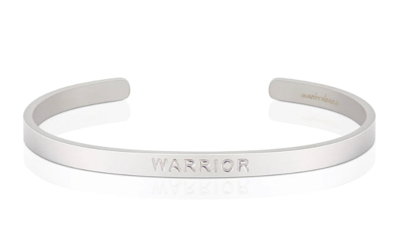 Warrior (Bold)- MantraBand- Silver